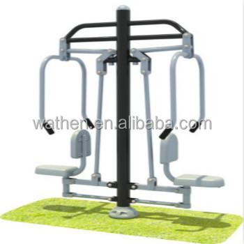 2017 Outdoor Gym Fitness Gymnastic Equipment With Chest Press Ftness Tranning Machine