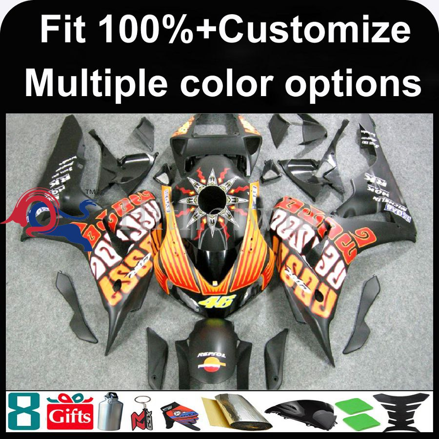 INJECTION MOLDING panels 2006 2007 CBR 1000RR Fairings For HONDA CBR-1000RR REPSOL Fairings 2006 2007 CBR1000RR 2006 2007 CBR100