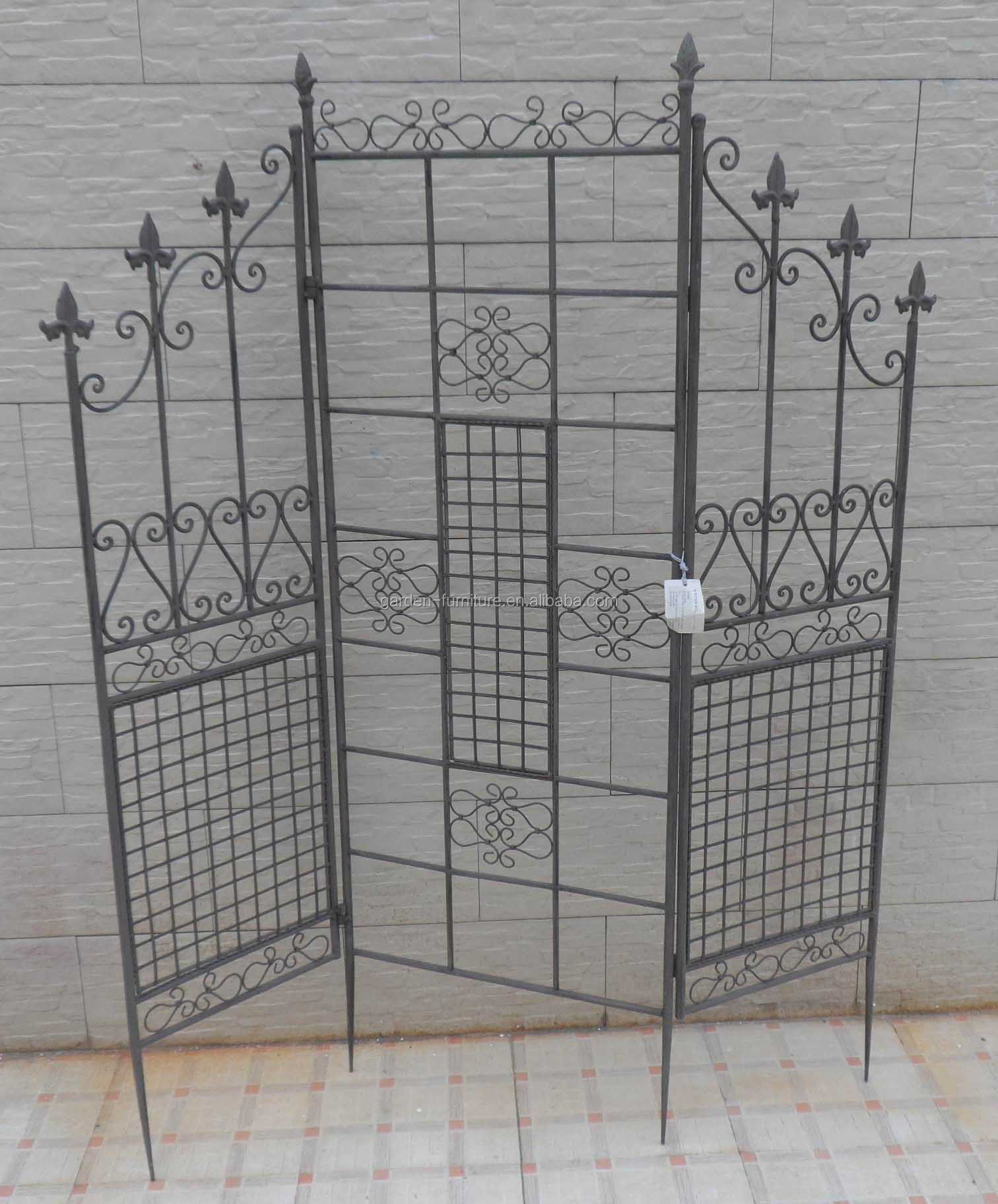 Wholesale Metal Home Garden Handmade Decoration Folding Wrought Iron Room  Divider Screen