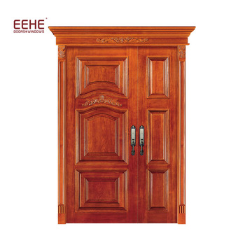 Solid Double Entry Wood Doors Malaysia