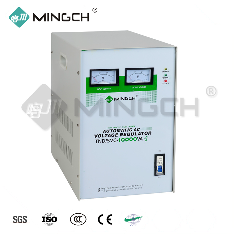 MINGCH March Expo 10Kw double carbon brush 100% load 100% copper Automatic Voltage Regulator / Stabilizer