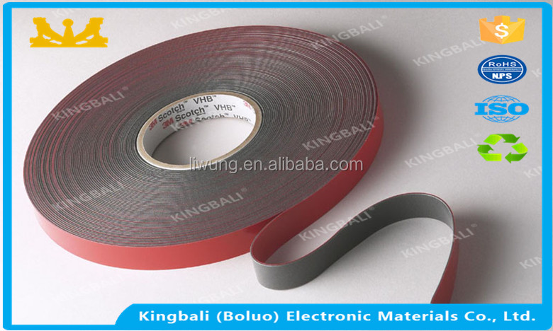 Gray VHB 1.1MM Thickness 4611F 3M adhesive tape