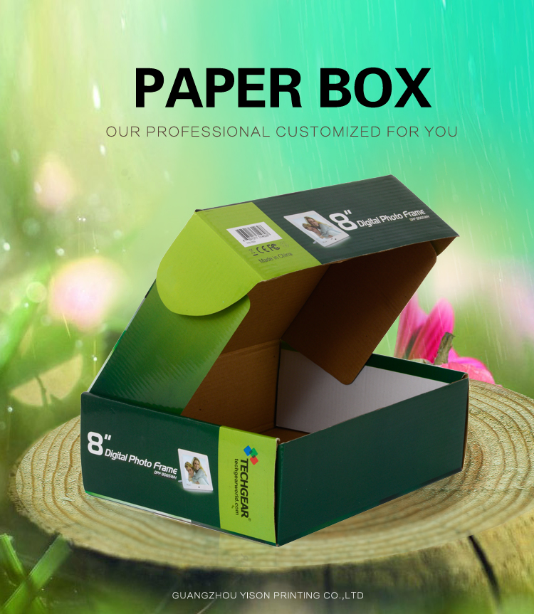 Manufacturer Wholesale Custom Full Color Printed E Flute Cardboard Tuck Top Mailing Shipper Paper Corrugated Box