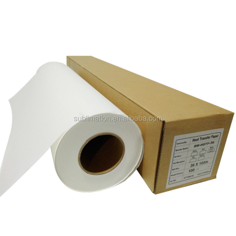 China Dye sublimation paper roll printed in Guangzhou or sublimation paper