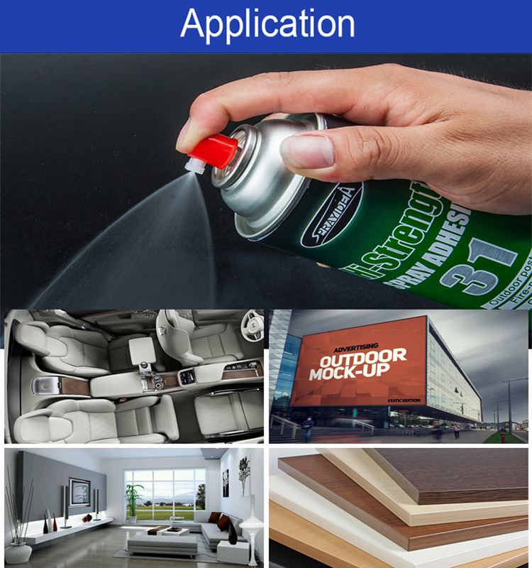Sprayidea 31 heat-resistant spray silicone glue adhesive for car roof