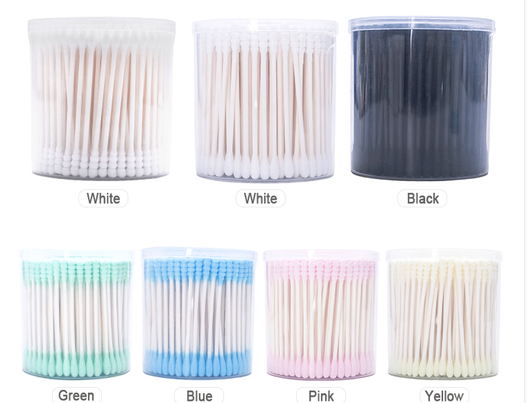 environmental cotton swabs cotton buds with bamboo stick in paper box without any plastic