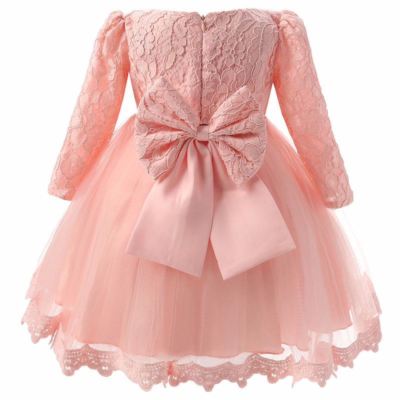 88375ff64609 2019 Wholesale Winter Newborn Baby Dresses Clothes For Girls Pink ...
