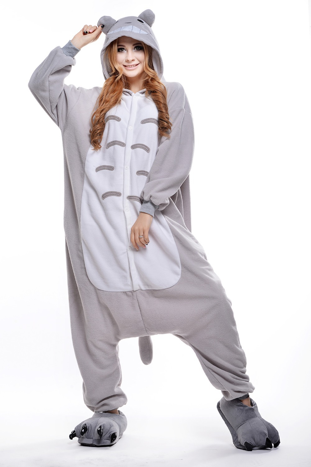 bd6bf28462be Get Quotations · Totoro Costume  Plus Size Halloween Costume for Women  Mens  Onesie  Fancy Anime Cosplay