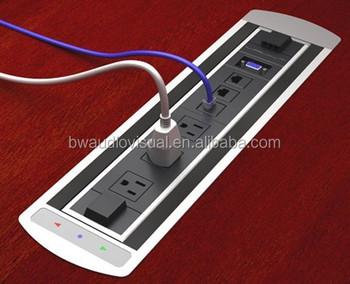 Bwt Us Usb Conference Table Socketmotorized Electric Office Flip - Conference table electrical outlets