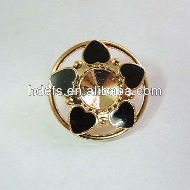 21mm Sharp Cone Shape Zinc Alloy Buttons with Acryl in Cool Style