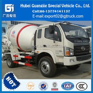 foton 4X2 agitating lorry mixer truck double axle concrete mixer