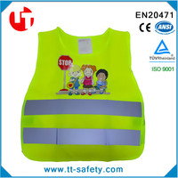 CE EN471 EN1150 class 2 high visibility quality kids safety reflective school garment