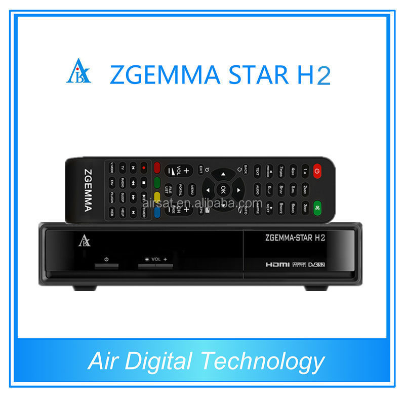 Combo DVB-S2+T2 Zgemma star H2 iptv streaming server enigma2 tv receiver with samsung 109A DVB T2 Tuner