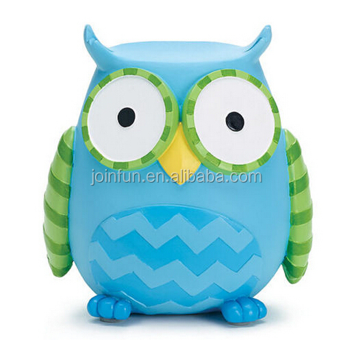 Plastic owl money boxes, Owl shaped cute plastic money bank, Cute owl piggy bank money box