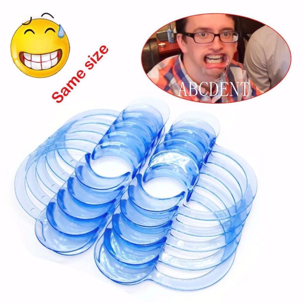 Mouth Opener,Muxika 10pcs Dental C-Shape Teeth Whitening Intraoral Cheek Lip Retractor Opener for Adult(Light blue) (S)