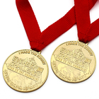 Wholesale Personalize Custom Gift Metal Gold Kids Cup Sport Awards Children Medal Medallion With Ribbon For Kids