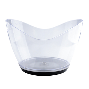 WYX1012 Large Champagne Ice Bucket Plastic 12L Led Light Transparent Custom Logo Ice Bucket For Bar