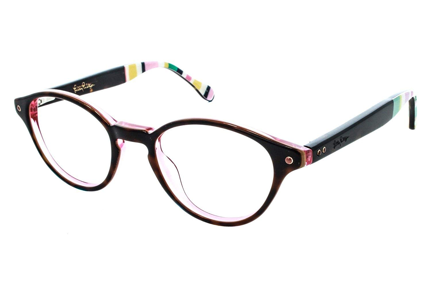 590931ab8eed Get Quotations · LILLY PULITZER Eyeglasses ALLAIRE Tortoise 45MM