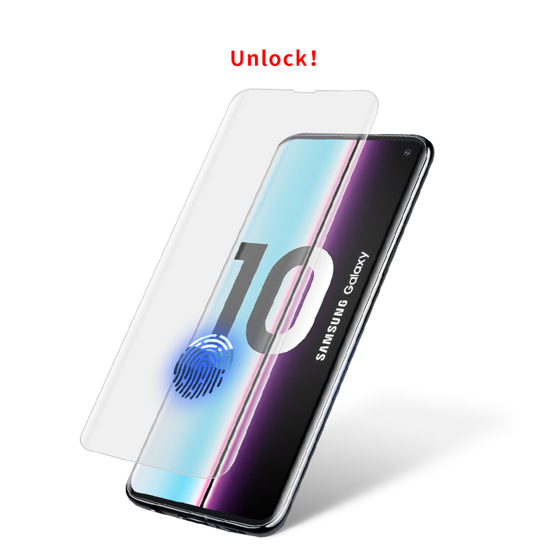 Japan AGC Glas Wasserdichte 5D Screen Protector Für Samsung S10/S10 Plus