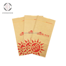 Shop use brown kraft paper SOS bag greaseproof takeout food safety container