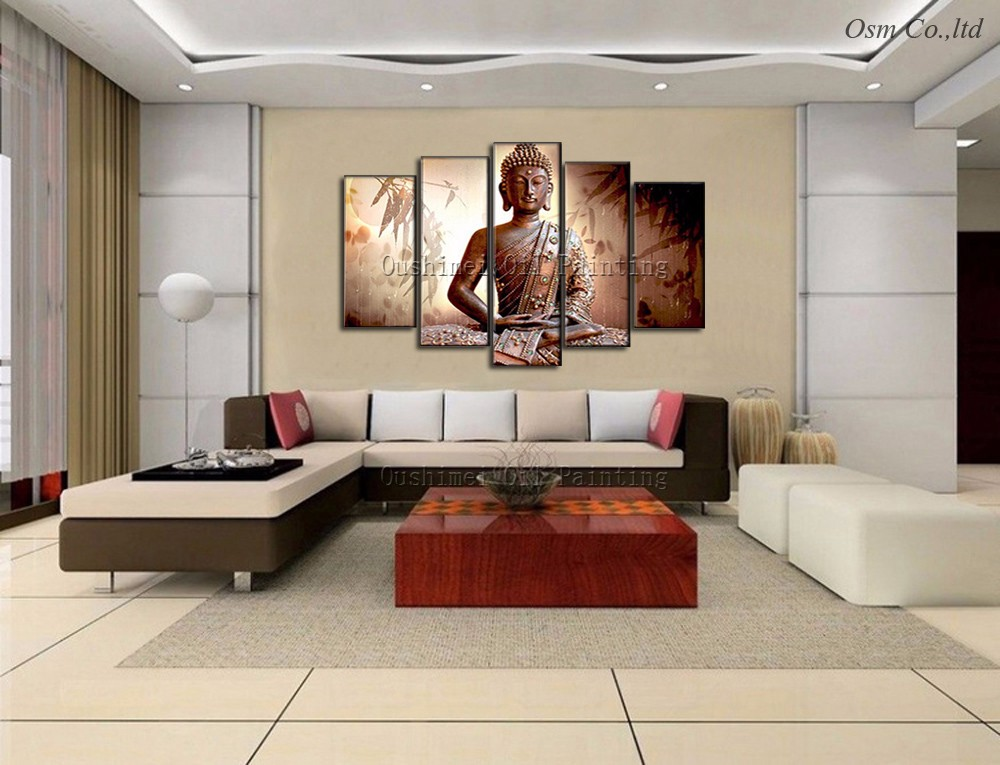Artist Hand Painted High Quality Modern Abstract Buddha Oil Painting On  Canvas Indian Buddha Canvas