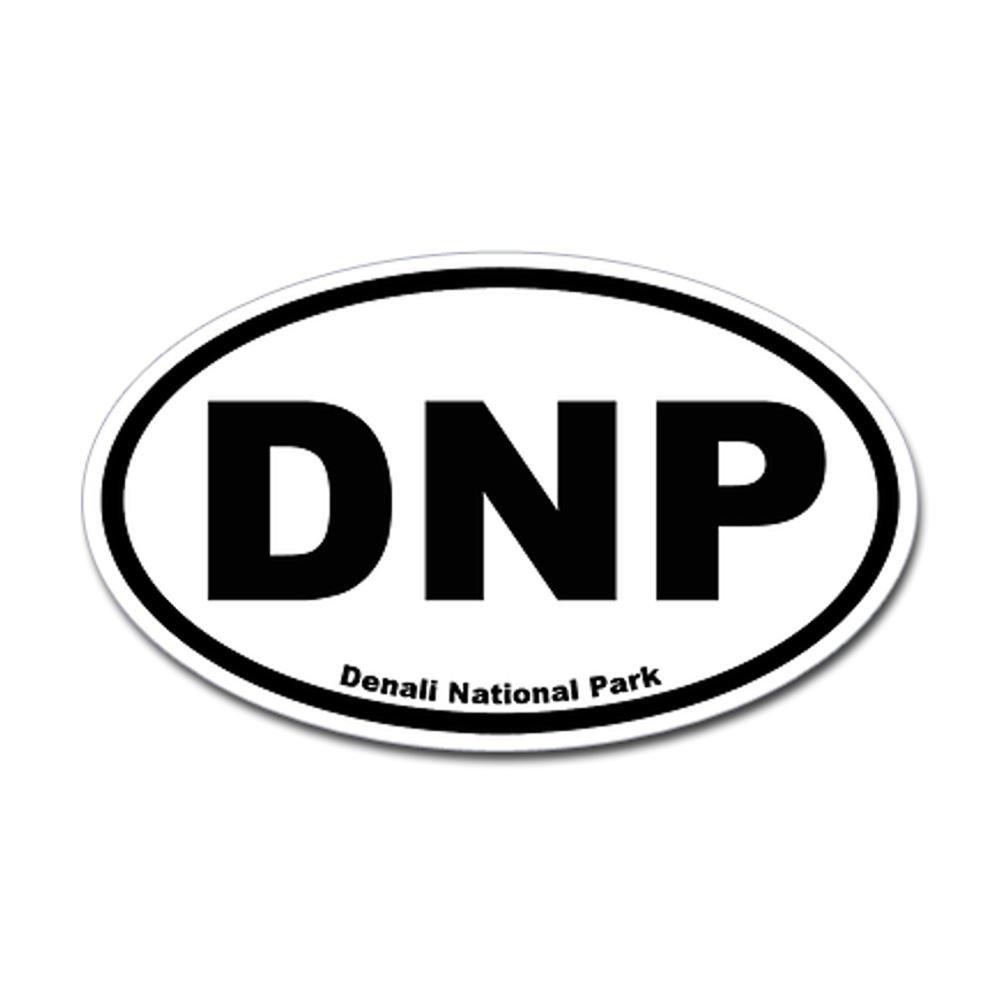 CafePress - Denali National Park Oval Sticker - Oval Bumper Sticker, Euro Oval Car Decal