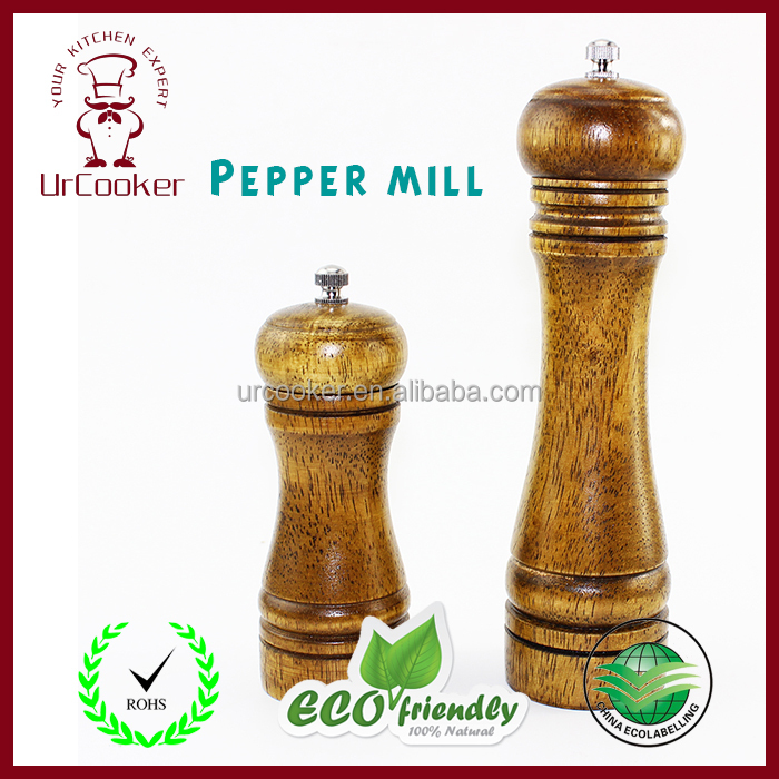 Hot Sale Large wooden Pepper Mill Salt Grinder