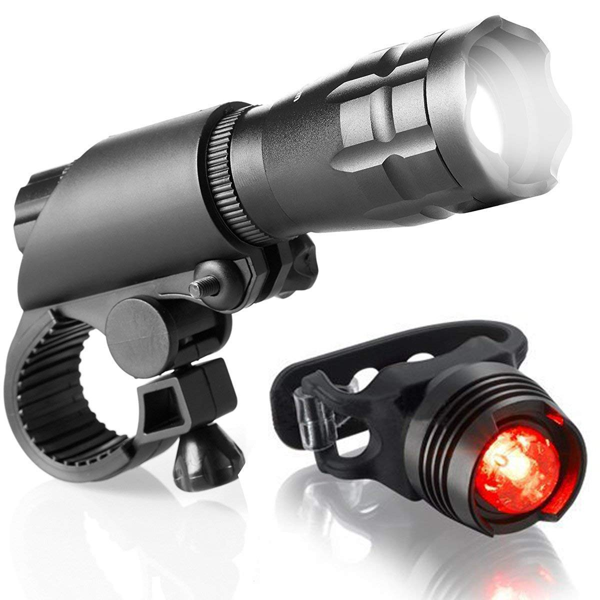 ZOUQILAI LED Bike Light Set Powerful Bright Front Lights Easy to Install for Kids Men Women Road Cycling Safety Flashlight Bicycle Headlight