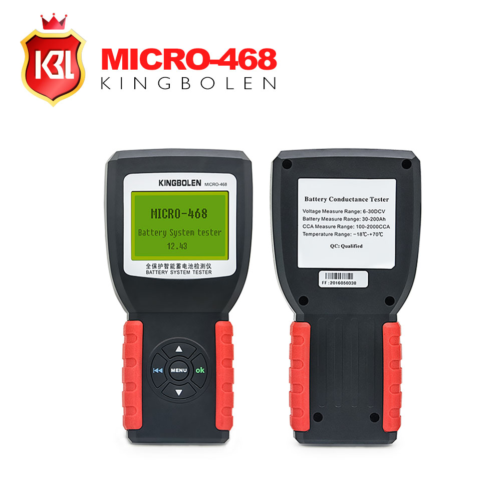 New Released Car Battery System Tester MICRO-468 for 12v & 24v system Multi-language micro 468 for SOH SOC CCA IR
