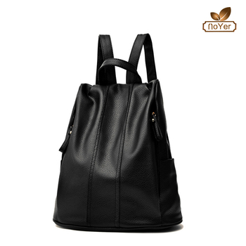 b66d862f03 Fashion women backpacks import casual school bag girl solid leather backpack