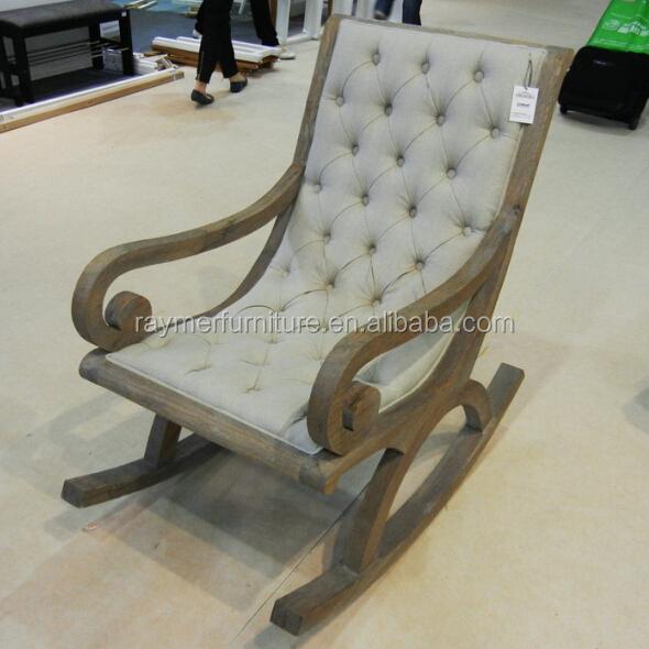 a82975656 Estilo francés caliente de la Venta Ropa antiguos tapizados mecedoras de  madera