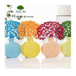 decorative glass bottle reed diffuser air freshener container, floral decorative flower sticks reed diffuser