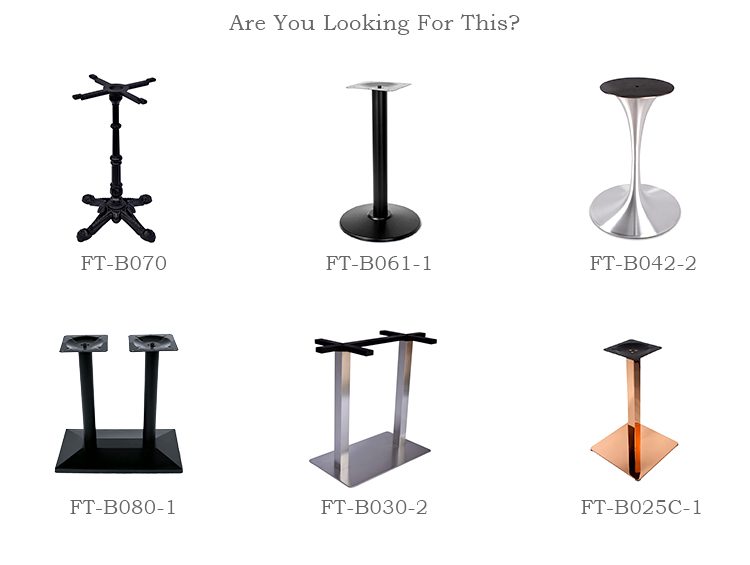 China OEM Supplier Durable Heavy Industrial Tulip Base For Restaurant Round Dining Table