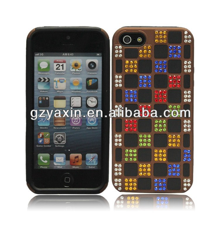 For iphone 5 metal rhinestone case