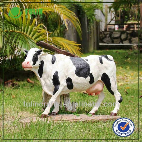 R sine jardin d coration de jardin animaux vache laiti re - Resine de decoration ...