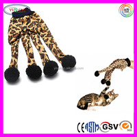 B710 Comfy Leopard Print Pet Cat Plush Glove Kitten Cleaning Toy Pet Glove