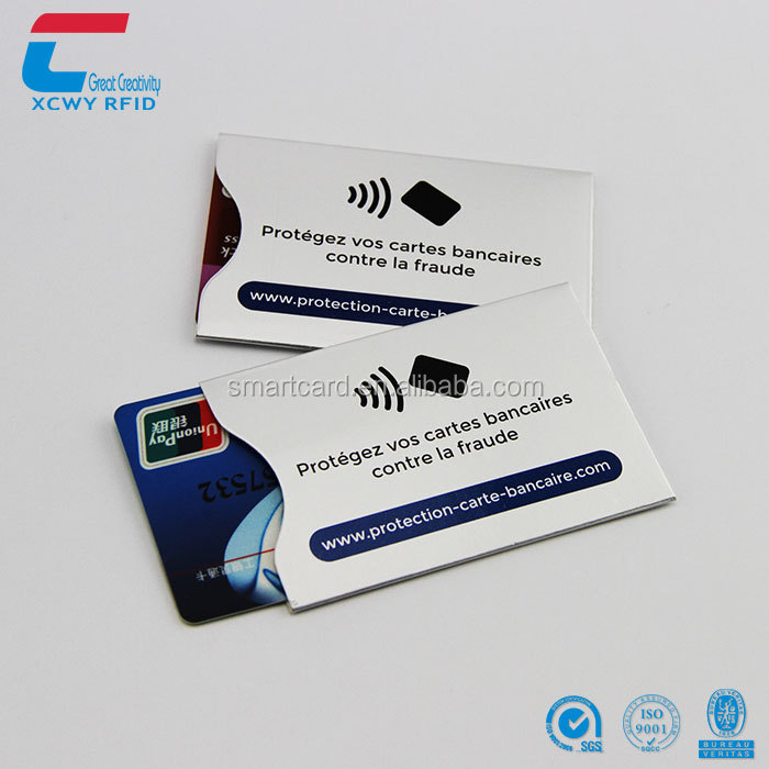 Aluminum Foil Passport Credit Card Protector RFID Blocking Card Sleeve