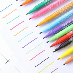 12 colors promotional dual tips permanent fabric marker