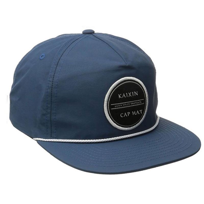 Custom 5 Panel Unstructured Nylon Rope Snapback Hat - Buy Custom ... 9bfdea9ead1