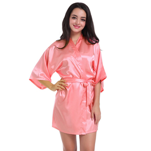 000282496d Plain Satin Robe