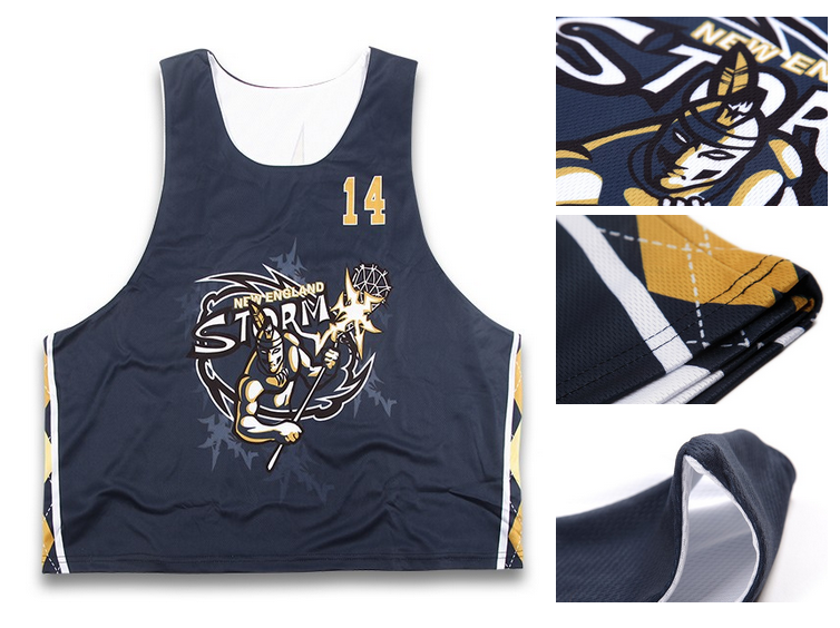 custom design team man reversible sublimation lacrosse uniform jerseys