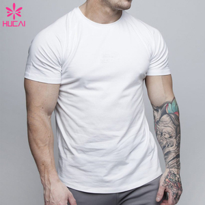 Wholesale Muscle Men Sports Shirt Breathable Cotton White t shirt