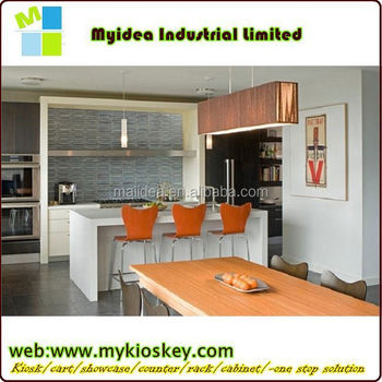 Coffee Melamine Round Bar Counter XYM T16 Wood Bar Counter Cabinet