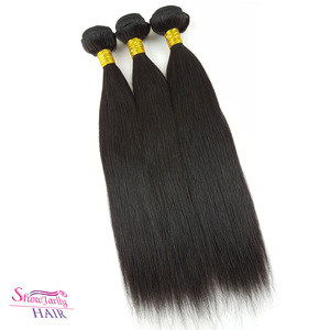 No shed 9a 8a grade indio del pelo humano relaxed long indian remy straight hair
