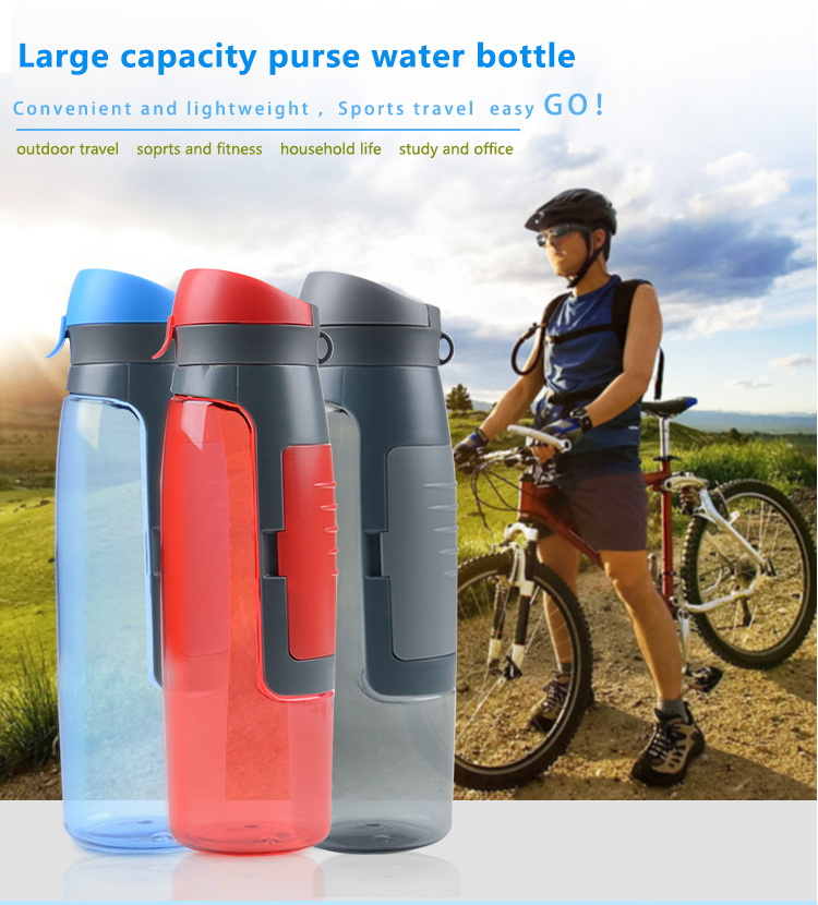 2019 Food grade material sports fitness multifunction plastic drinking water bottles