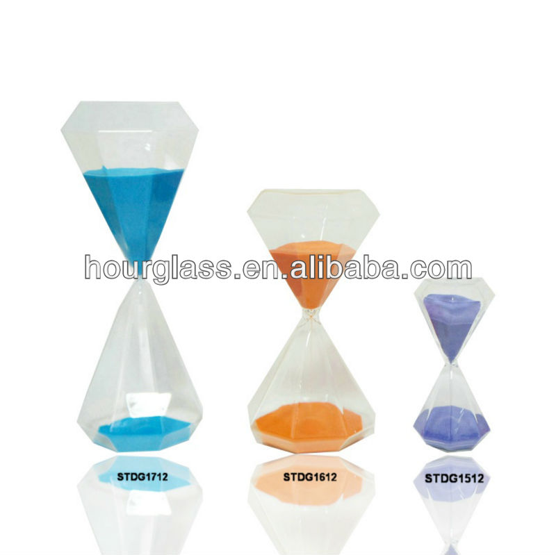 60 Minutes 1 Hour Gl Sand Timer In Diamond Shape Hourgl Product On Alibaba