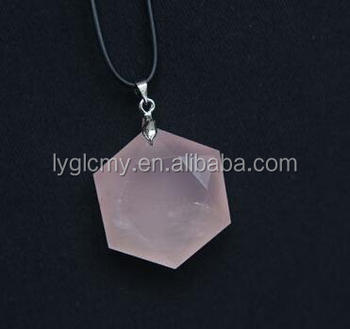 Natural rose quartz crystal hexagon david star pendant buy quartz natural rose quartz crystal hexagon david star pendant mozeypictures Image collections