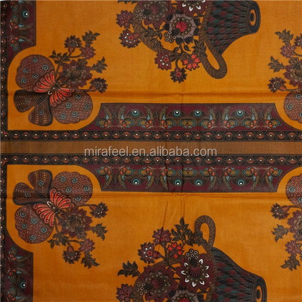 Durable cheap good sellers African veritable wax fabrics hollandais for party golden print