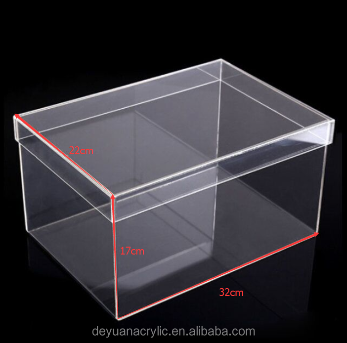 Custom clear acrylic shoe box for nike shoes packing