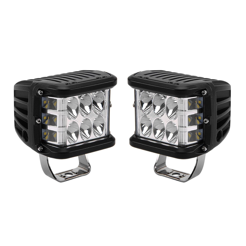 LED Light Bar, Northpole Light 2pcs 45W Side Shooter LED Pods Spot Lights Driving Fog Lights LED Work Lights for Off Road, Truck, Car, ATV, SUV, Jeep